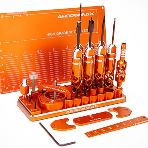 [Arrowmax] AM Special Toolset For 1/32 Mini 4WD (Orange) 프리미엄공구