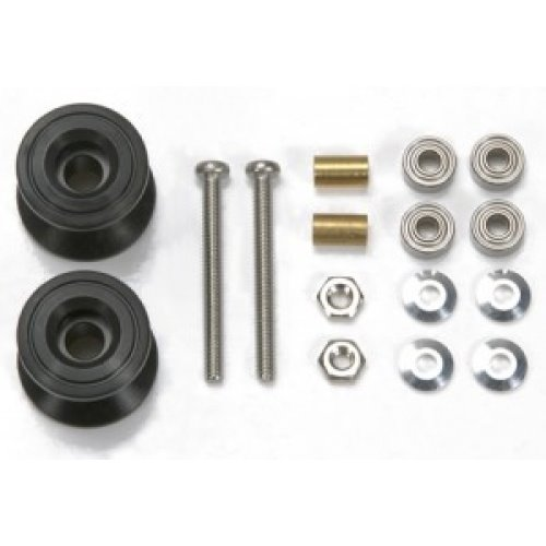 [아노다이징] 흑절구 15398 Double Alum Rollers 13-12mm Tamiya Mini4WD 타미야 95231