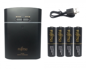 [592219]FUJITSU : BATTERY CHARGER-BLACK :2450mAH *4 충전기