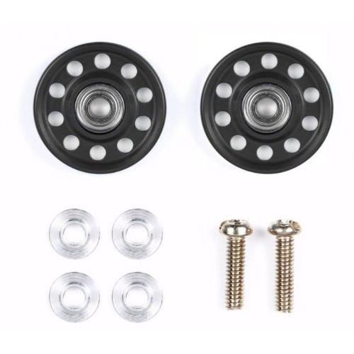 [95499]Aluminum Ball-Race Rollers 13mm Lightweight, Ringless, Black 타미야미니카 링리스 TAMIYA MINI4WD